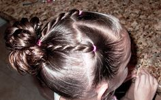 Shaunell's Hair: Little Girl's Hairstyles -Twist Braids and Stuffed Bun 7-10 min