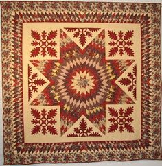 Seneca Fall Star, reproduction of an IQSCM quilt by the Sewhatevers.