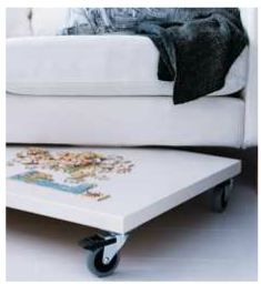 Hide a puzzle under the couch!  definitely doing this. I love doing puzzles on a cold winter evening.
