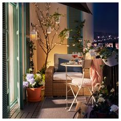 The chill-out zone on the balcony- Die Chill-out-Zone auf dem Balkon IKEA Germany Small Balcony Design, Small Balcony Decor, Small Balcony Furniture, Outdoor Balcony, Balcony Ideas, Modern Balcony, Tiny Balcony, Outdoor Gardens, Apartment Balcony Decorating