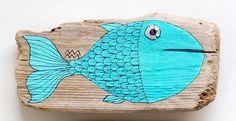 Driftwood Fish Sea Ocean Art - Treibholz Fisch Malerei - www.kymastyl.com - shop: kymastyl.dawanda.com