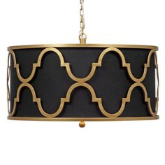 Meridian Pendant Lamp from Z Gallerie black and gold Stylish Home Decor, Affordable Home Decor, Quatrefoil, Interior Exterior, Home Lighting, Lighting Ideas, Light Decorations, Home Decor Inspiration, Light Fixtures