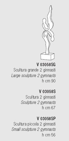 Gymnastics Murano Glass Sculpture