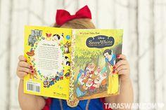 Disney Snow White toddler photo shoot.