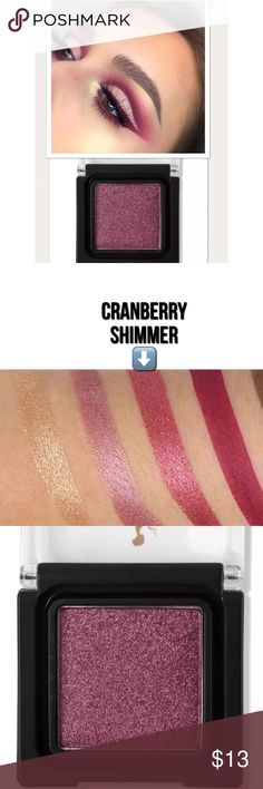 Beautiful Cranberry Shimmer Eyeshadow Beautiful eyeshadow pallet. Smooth glide on long lasting finish & perfect for blending with other colors to create your own look. Take a look in my closet to see the other colors available. Bundle 2 or more and save  •Color: Cranberry Shimmer  •Brand New In Sealed Package •Same Or Next Business Day Shipping Makeup Eyeshadow