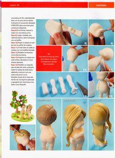 MIS REVISTAS PARA REPOSTERIA: LETICIA SUAREZ DEL CERRO (2012-Nº1) Sugar Paste, Paperclay, Pasta Flexible, Clay Dolls, Clay Tutorials, Cold Porcelain, Cake Decorating, Decorating Ideas, Fondant