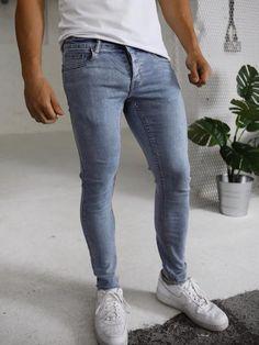 Skinny Fit Jeans, Stretch Denim, Looks Great, Light Blue, Legs, Pants, Fashion, Skinny Jeans, Trouser Pants