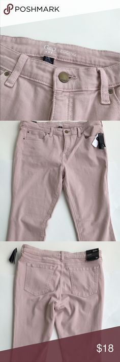 The Gap Skinny Pink Jeans NWT size 12/31R NWT Gap Jeans MSRP 59.99 light pink skinny legging jeans mid rise GAP Jeans Skinny