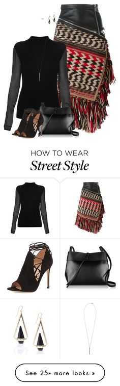 """""""Street style"""" by janemichaud-ipod on Polyvore featuring Dsquared2, Elie Tahari, Gianvito Rossi, Kara and French Connection"""