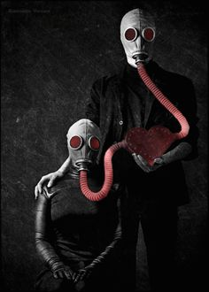 - No matter how toxic this love is, no matter how painful it is to say goodbye, I still love you. You held my heart, you protected me and the least I co. Gas Mask Art, Masks Art, Gas Masks, Surrealism Photography, Dark Photography, Apocalypse, Tv Movie, Foto Gif, Chernobyl