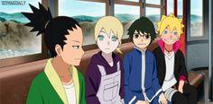 Shikadai, Inojin, Denki y Boruto Inojin, Shikadai, Amaama To Inazuma, Nijiiro Days, Himouto Umaru Chan, Boruto Next Generation, I Ninja, Boruto Naruto Next Generations, Ao No Exorcist