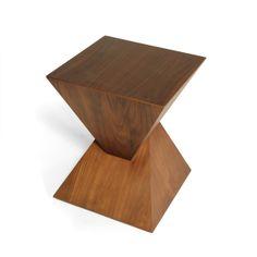 Pyramid Walnut Side Table