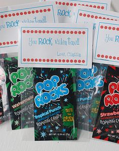 For the boys to hand out!  <3  $1 store has pop rocks