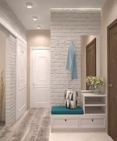 design and decor of the hallway interior for the hallway hallway interior to decorate the hallway Flur Design, Plafond Design, Hallway Decorating, Entryway Decor, Hall Furniture, Hallway Designs, House Entrance, Small Apartments, Mudroom