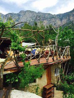Mediterrane balkons, veranda's en terrassen van badem ağacı