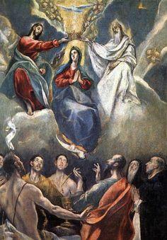 Coronacion de la Virgen, El Greco 1591