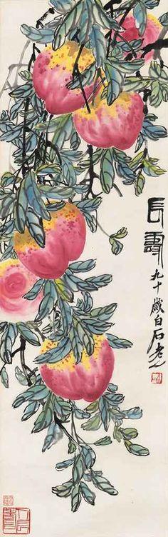 """Longevity"" by Qi Baishi (1863-1957)"