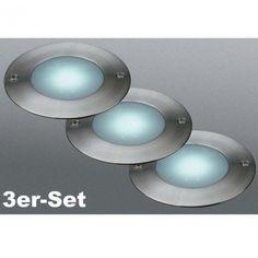 """LED Bodeneinbaustrahler dimmbar Lakonia"""" (3er Pack)"""""""