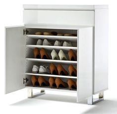 Meuble à chaussures blanc laqué Nora 2 portes 1 tiroir 339€