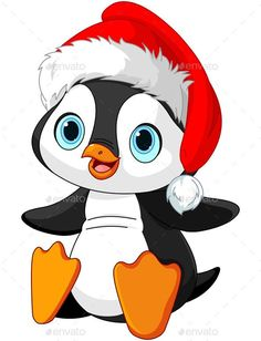 Illustration about Illustration of Cute Christmas penguin. Illustration of label, image, cartoon - 47643098 Christmas Rock, Christmas Crafts, Christmas Ornaments, Christmas Drawing, Christmas Paintings, Christmas Animals, Christmas Pictures, Pinguin Illustration, Penguin Clipart