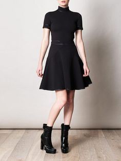 GIVENCHY  Satin trimmed high-neck dress