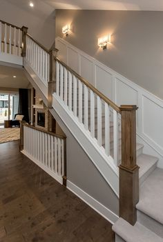 Inventive Staircase Design Tips for the Home – Voyage Afield Entryway Stairs, House Stairs, Foyer, Fish House, My House, Big Design, House Design, Stair Paneling, Winding Staircase