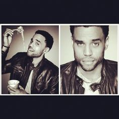 Michael Ealy ♥  I wish I was those noodles!!! Lol...enjoy your day ladies! :)