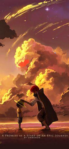 Luffy and Shanks - One Piece ^^ / Source by LucianGarroway sanji One Piece Manga, One Piece Cartoon, One Piece Fanart, Es Der Clown, One Piece World, Anime Group, One Piece Luffy, Monkey D Luffy, Animes Wallpapers
