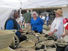 Ms. Mary Ann's sweet grass baskets are always a hit at Arts & Crafts!