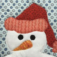 """~20"""" diameter. Pattern with paper templates to build your snowman and enjoy all season long.  Follow my 'appliquilt' directions and get the job done quickly."""