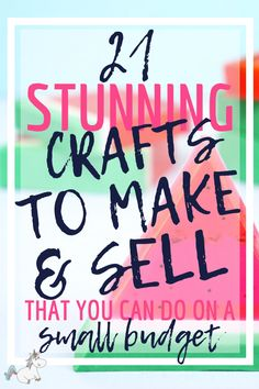 21 Brilliant Crafts To Make and Sell For People Who Like Extra Cash! Crafts to sell 21 Brilliant Crafts To Make And Sell For Extra Cash In 2019 Diy Projects That Sell Well, Easy Crafts To Sell, Crafts For Teens To Make, Sell Diy, Kids Diy, Money Making Crafts, Extra Money, Extra Cash, Local Craft Fairs