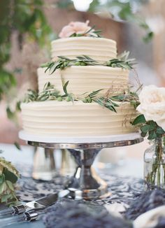 The New Classic. Wedding Cake by SusieCakes.com -- LOVE. Jose Villa Photography | See more of this gorgeous wedding on SMP: http://www.StyleMePretty.com/2014/03/04/elegant-outdoor-wedding-in-kenwood-california/