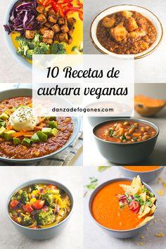 10 Vegan Soups and Stews - Vegetable Recipes Vegan Stew, Vegetarian Soup, Vegan Soups, Vegan Dishes, Vegetarian Recipes, Healthy Recipes, Vegan Food, Delicious Recipes, Veggie Recipes
