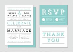 Wedding Invitation Suite - DIY printable pdf & customised. Wedding Invites, Save the Date, RSVP, Thank You Cards and monogrammed stickers on Etsy, $69.02