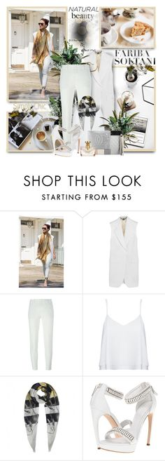 """""""Fariba Soltani"""" by sneky ❤ liked on Polyvore featuring STELLA McCARTNEY, Vince, Alice + Olivia, Alexander McQueen, Chanel and Bulgari"""