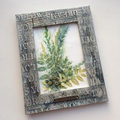 PaperArtsy: 2017 #3 Framed Botanical Print {by Ruth Mescall}