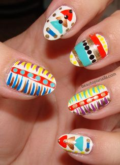 Image detail for -pretty into tribal right now so i basically rehashed my feathers nail ...