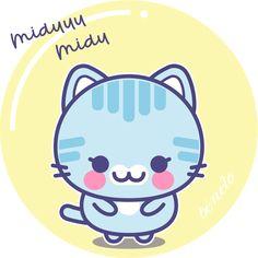 Cómo dibujar un gato Kawaii Kawaii Cute, Snoopy, Abstract, Creative, Artwork, Fictional Characters, Molde, How To Draw, Kawaii Drawings