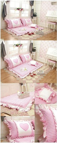 Korean Floor Pillows : Stitchery:In Stitches on Pinterest Crazy Quilting, Pin Cushions and Aprons