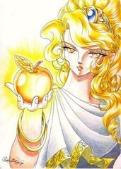 Athena Greek Mythology Percy Jackson stories Helen of Troy Apples- even Adam and Eve and Johnny Appleseed (Ali) Aphrodite Goddess, Goddess Warrior, Artemis, Comic Character, Character Design, Golden Apple, Magic Cards, Animation, Adam And Eve