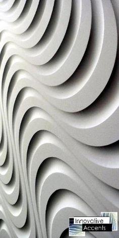 Innovative Accents - 3D Wall Panels - Decorative Wall Panels - Wave Wall Panels - Sculpted Wall Panels