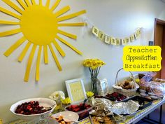 Teacher Appreciation Breakfast. From Marci Coombs Blog