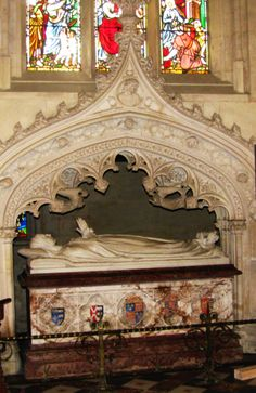 """The illustrious marble tomb of Katherine Parr, St. Mary's Chapel, Sudeley Castle. Her coffin was opened a number of times first in 1782 when a few locks of her hair were taken by John Locust who observed that her body, """"after 234 years, was in a surprisingly good condition. Reportedly the flesh on one of her arms was still white and moist"""" (Wikipedia)"""