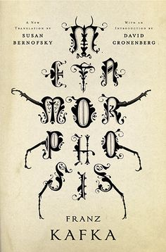 Book cover - The Metamorphosis: A New Translation by Susan Bernofsky - Design by Jamie Keenan - Lettering, insect, bug, beetle