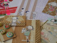 """Snail mail with girl drawing from the Dutch """"Flow"""" magazine by Vier Vandaag!: Flow-meisje."""