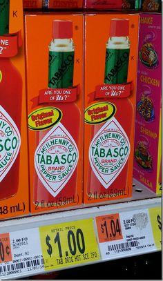 Tabasco Sauce for $.