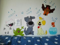Woezel & Pip muurschildering