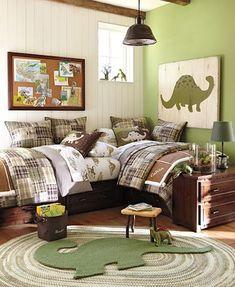 habitación de dinosaurios para niños pequeños