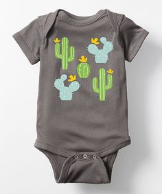 Take a look at this Charcoal Cacti Bodysuit - Infant today!