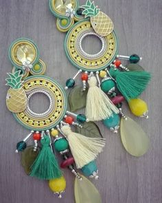 "Adel's Laboratory: ""fiesta "" earrings"